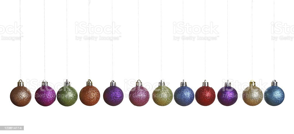 Christmas decoration 12 balls with clipping path royalty-free stock photo