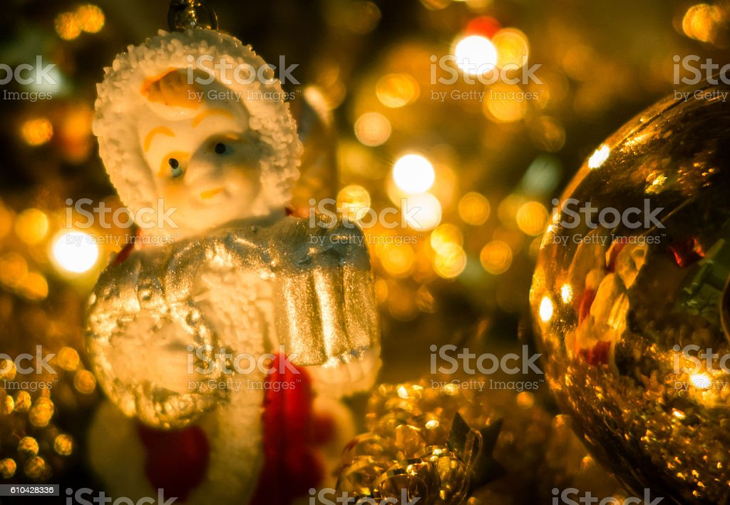 Christmas decoration - angel stock photo