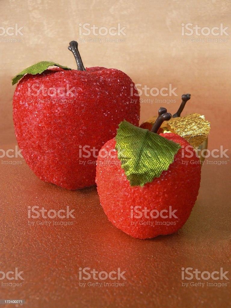 christmas decoration apples. royalty-free stock photo