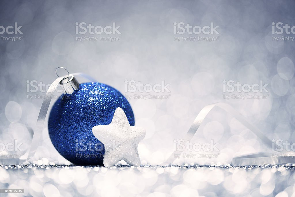 Christmas Decoration  - Baubles Glitter Bokeh Winter Gold royalty-free stock photo