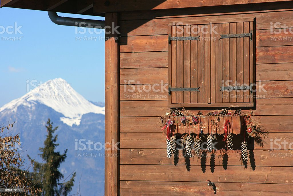 christmas decoration chalet royalty-free stock photo