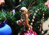Christmas Decoration. Figurine of an angel.
