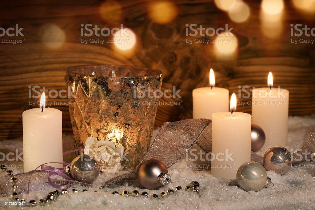 Christmas decoration for celebratory moments stock photo