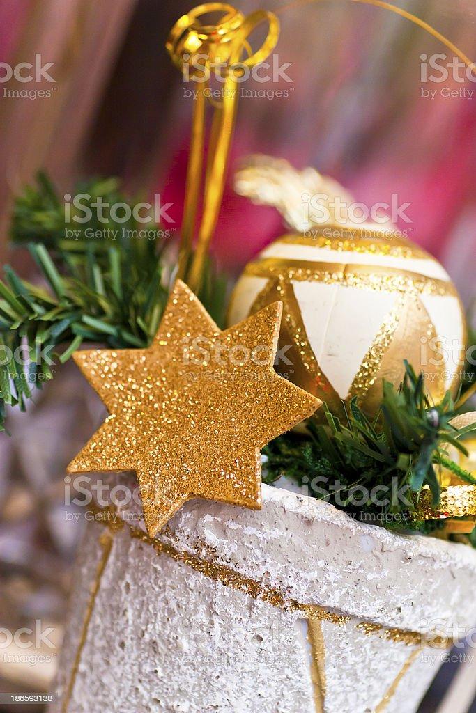 Christmas Decoration Golden Star royalty-free stock photo