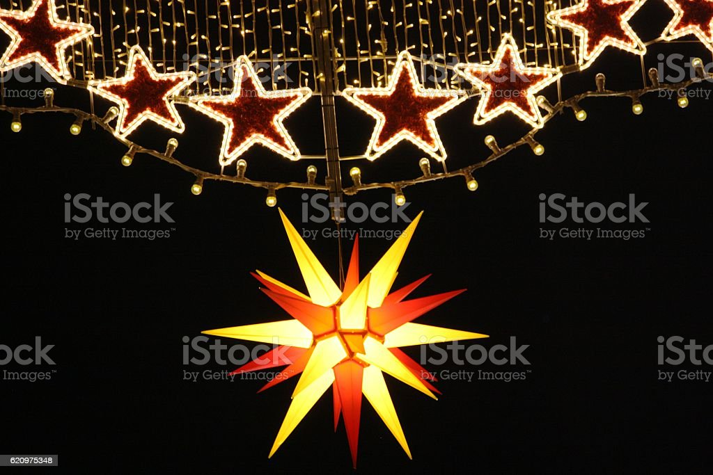 Christmas decoration in Dresden, Germany stock photo