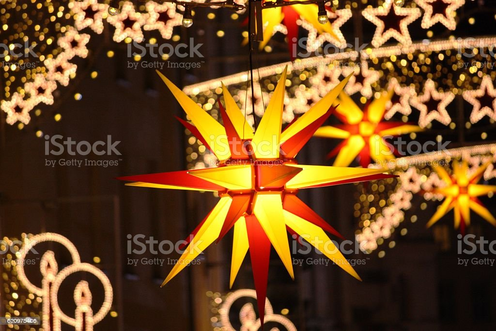 Christmas decoration in Germany stock photo