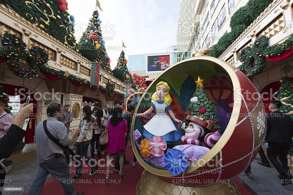 Christmas Decoration in Hong Kong stock photo