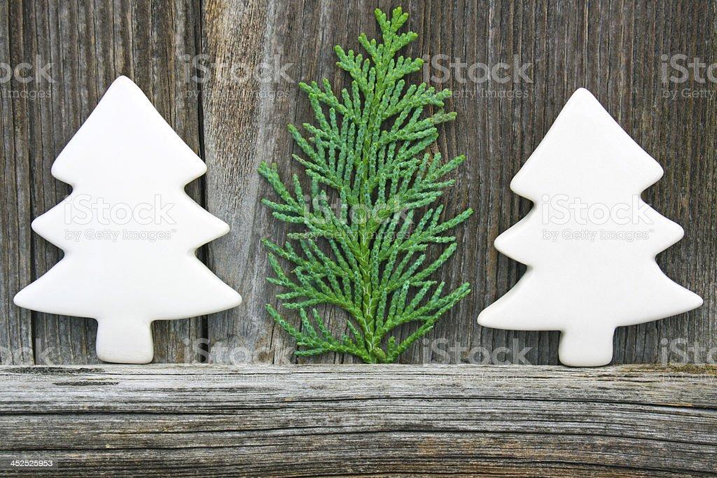 Décoration de Noël dans un style champêtre photo libre de droits