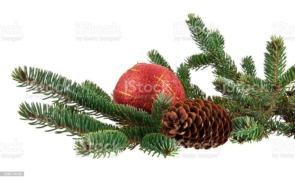 christmas decoration isolated on the white background stock photo