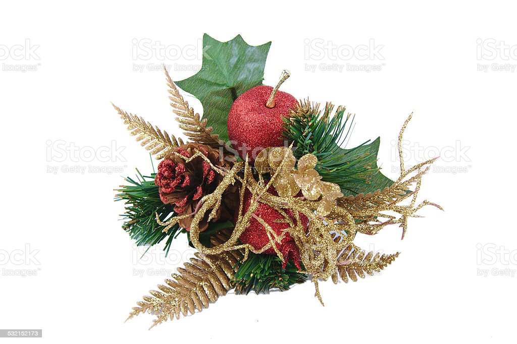 Christmas decoration isolated on white background. stock photo