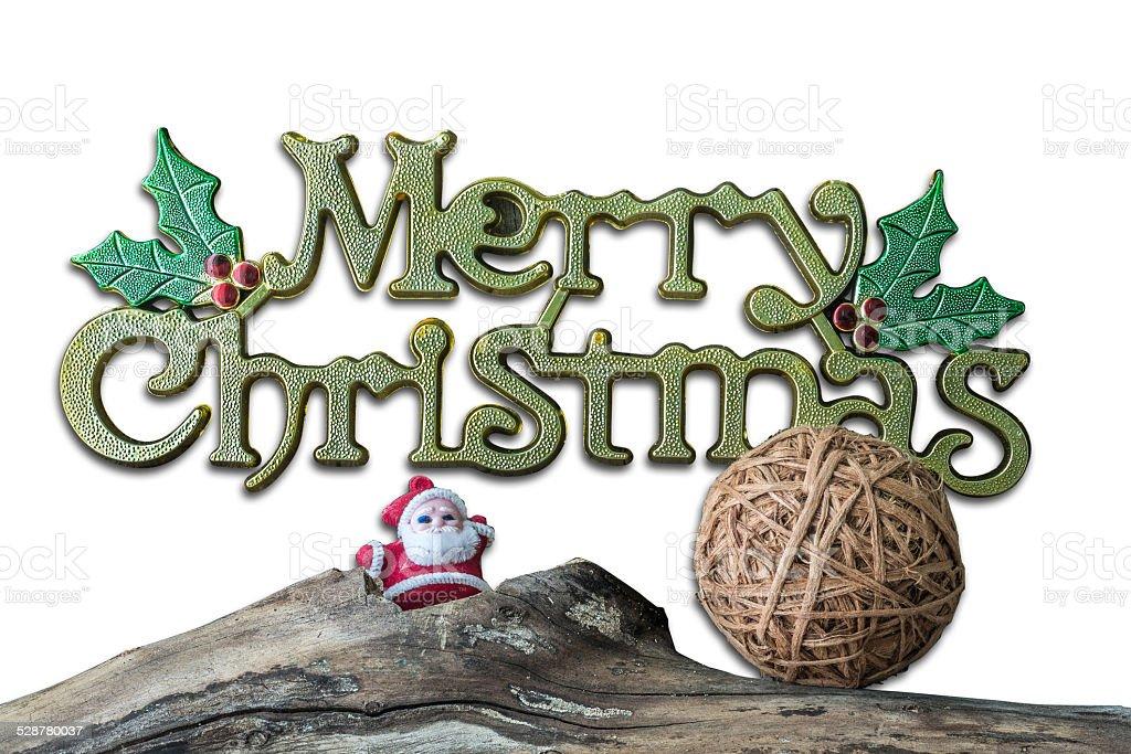 Christmas  decoration on isolated  white  background stock photo