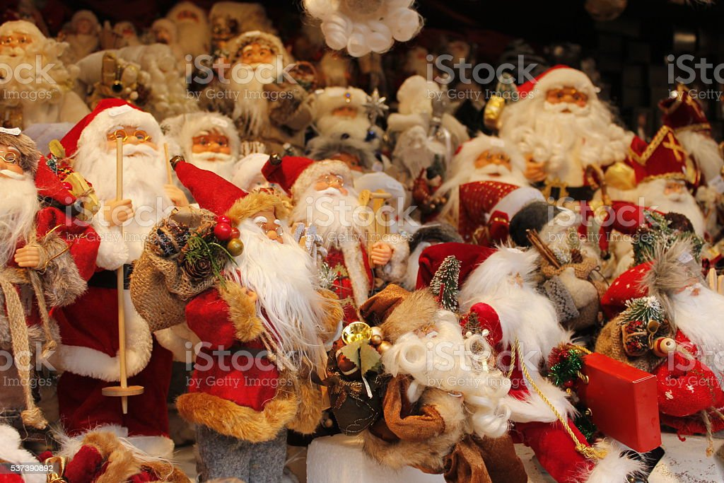 Christmas decoration on sale in the Christmas market stock photo