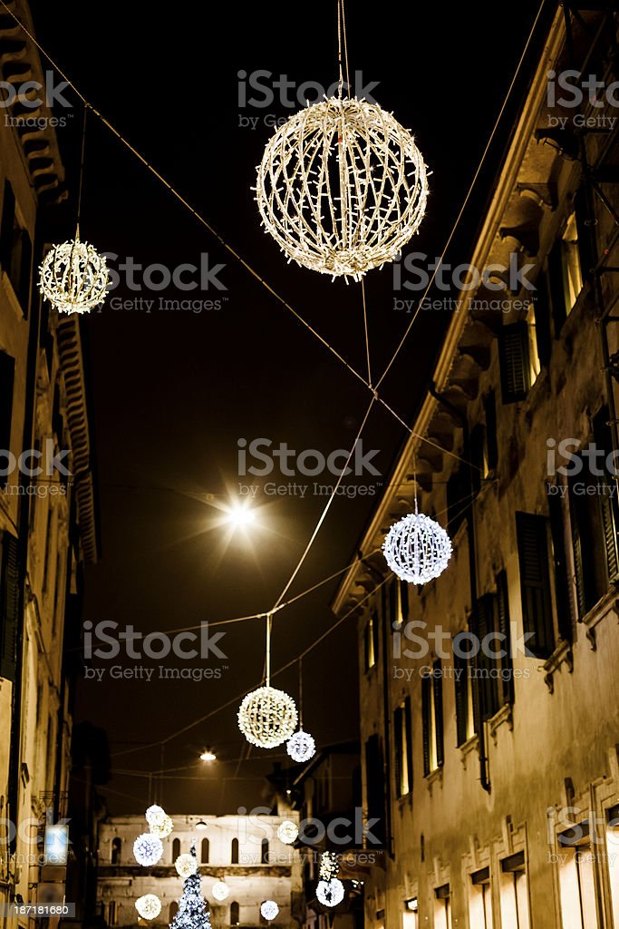 Christmas decoration on streets royalty-free stock photo
