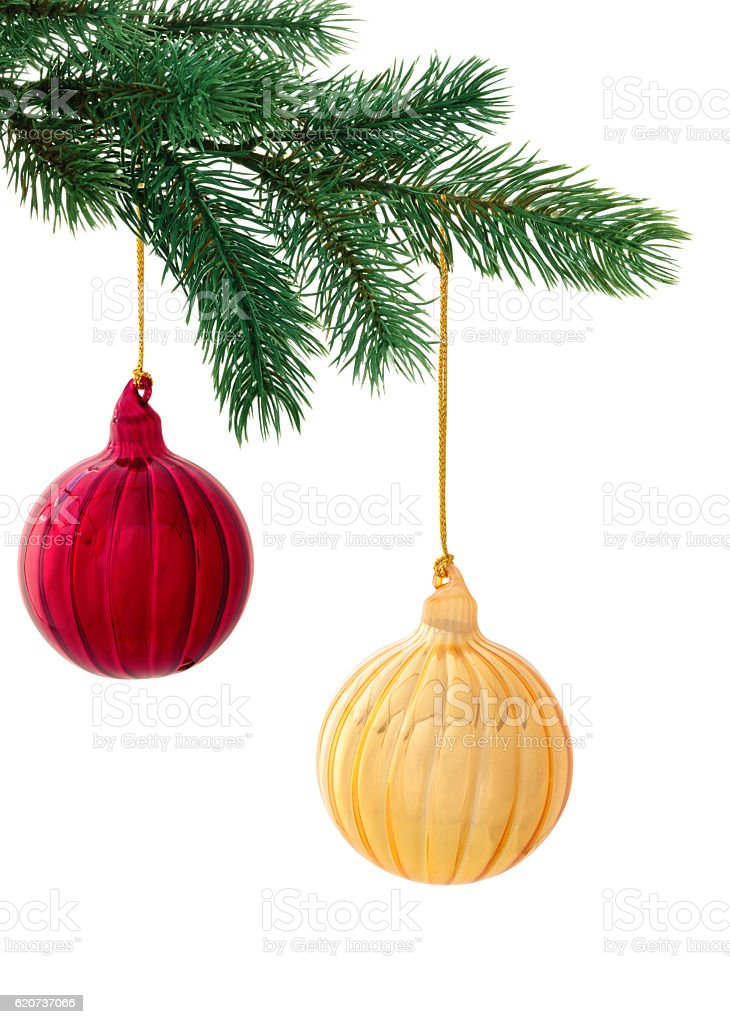 Christmas decoration on white. stock photo