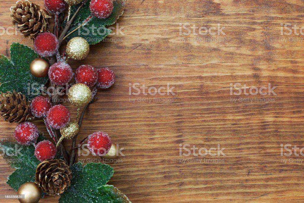 Weihnachtsdekoration auf Holz – Foto