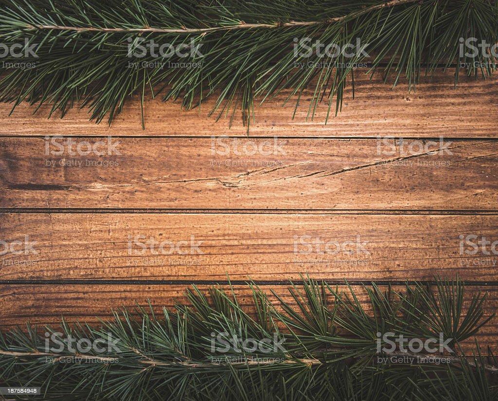 Christmas decoration ornaments on pine tree royalty-free stock photo