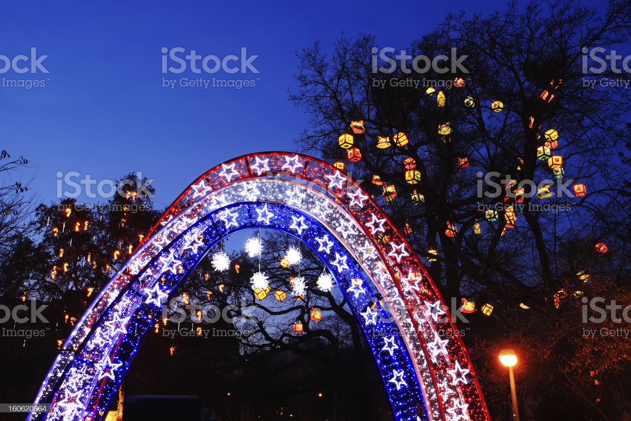 Christmas decoration outdoor royalty-free stock photo