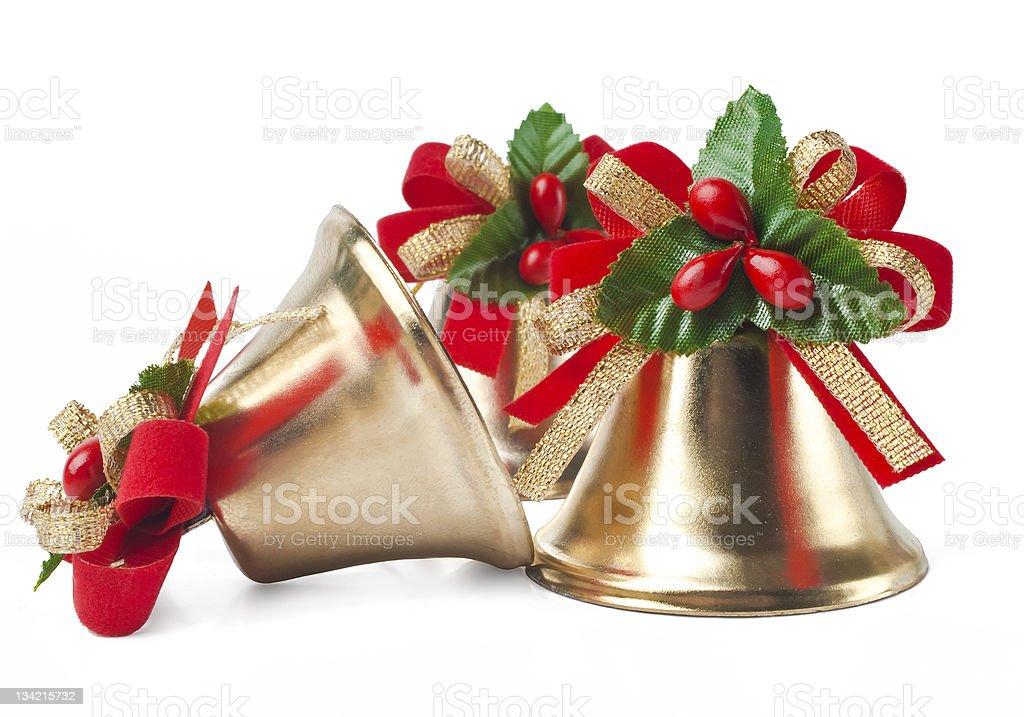 Christmas Decoration photo on the white background stock photo