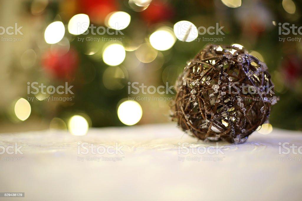 christmas decoration piece stock photo
