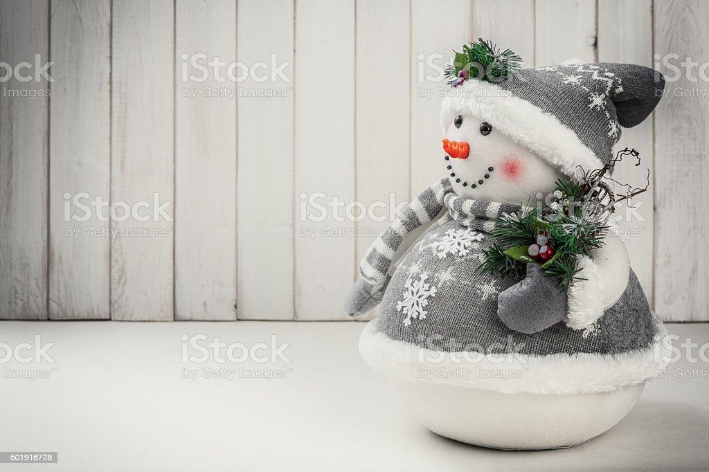 Christmas decoration snowman stock photo