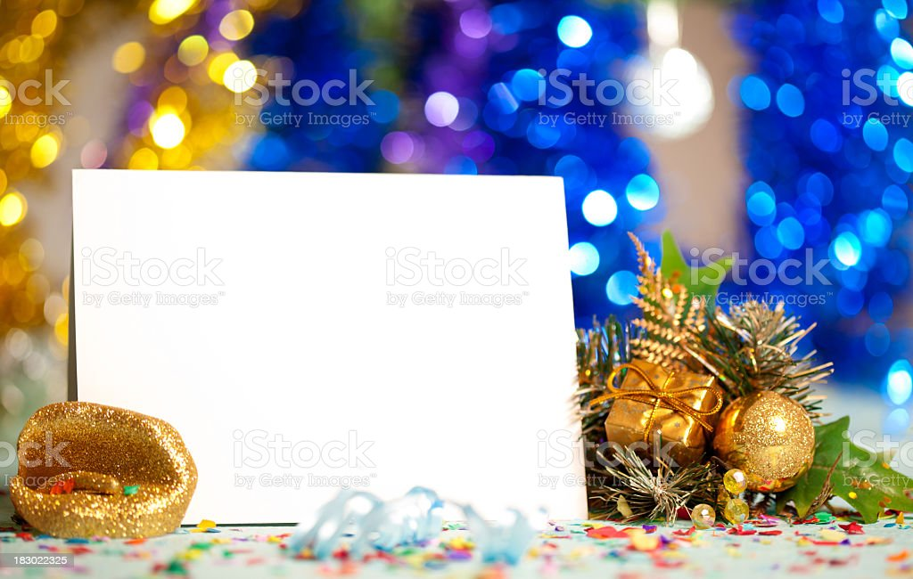 Christmas decoration with card stock photo