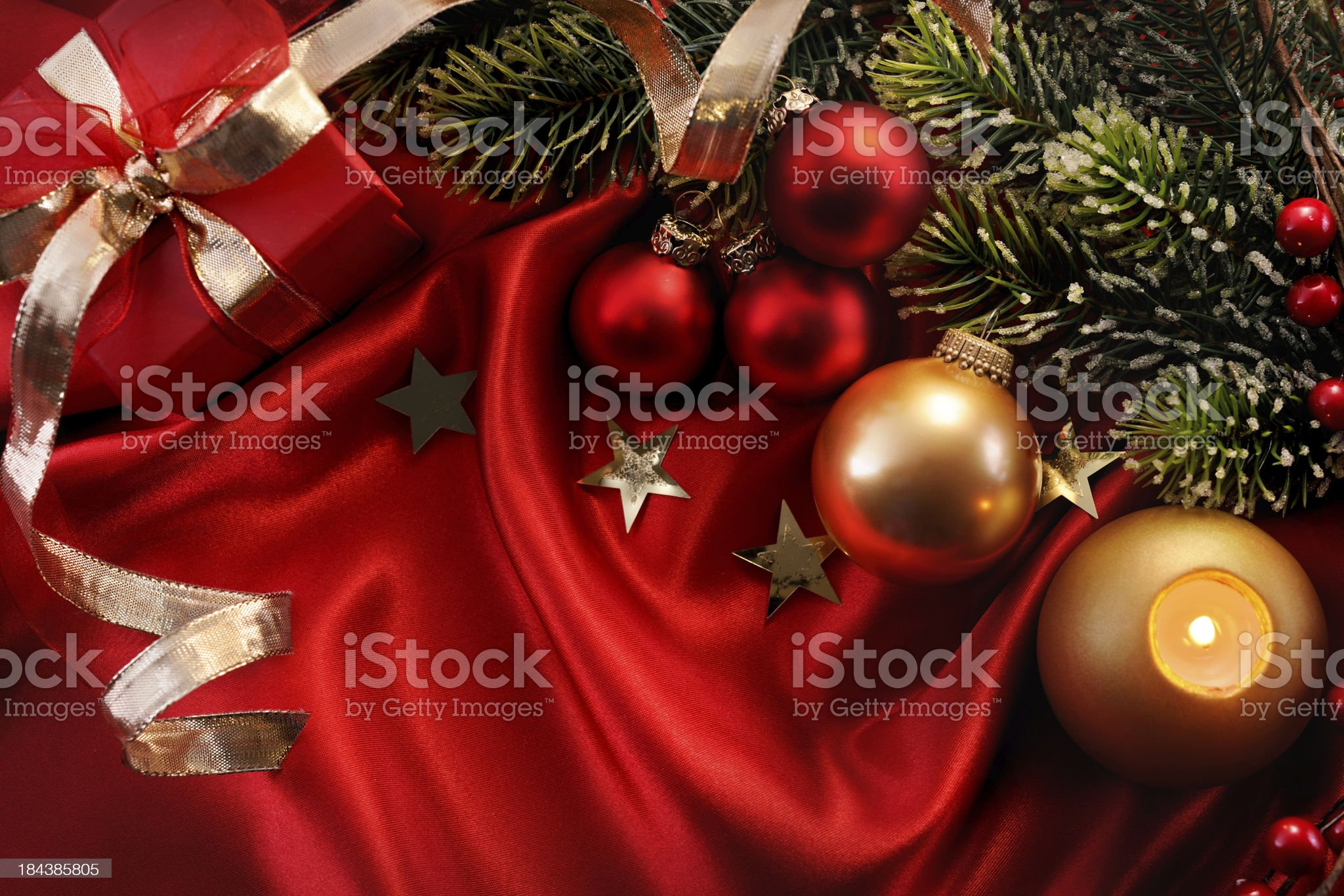 Christmas decoration with copy space royalty-free stock photo