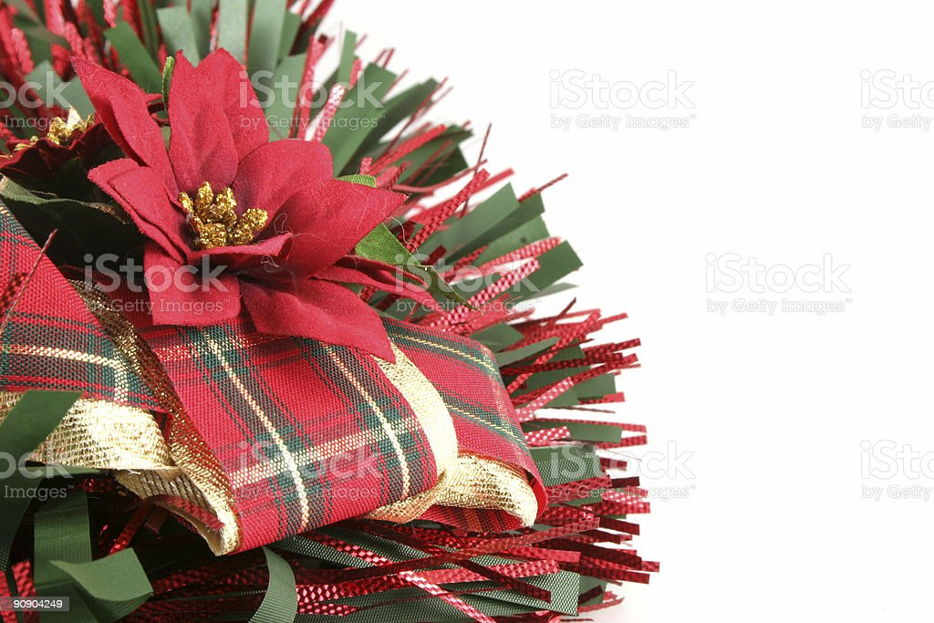 Christmas Decoration With Copy Space stock photo