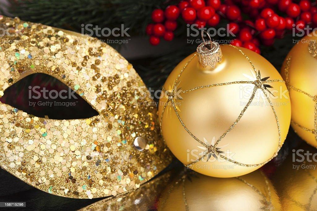 Decoração de Natal com holly Europeia foto de stock royalty-free
