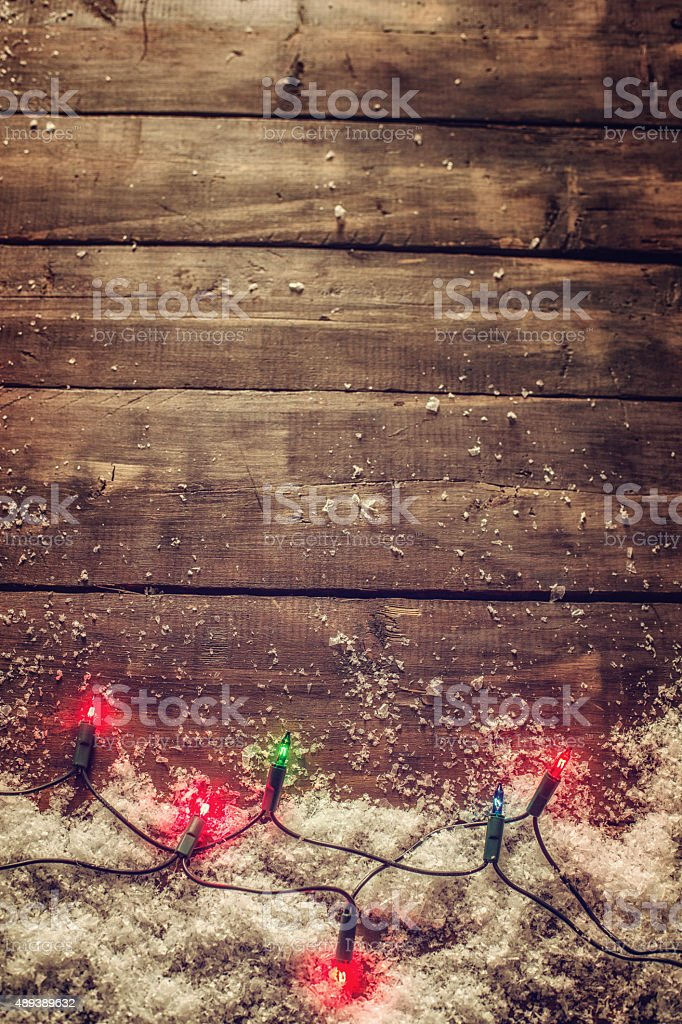 Christmas Decoration with Holiday Lights stock photo