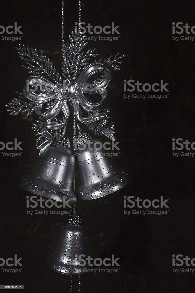 Christmas decoration with silver bells royalty-free stock photo