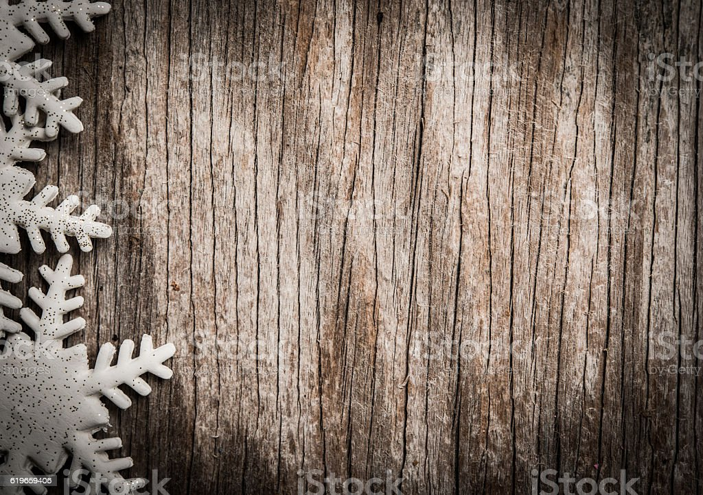 Christmas decoration with space for text stock photo
