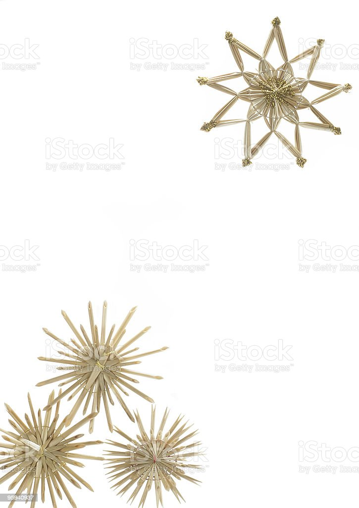 christmas decoration with straw stars royalty-free stock photo