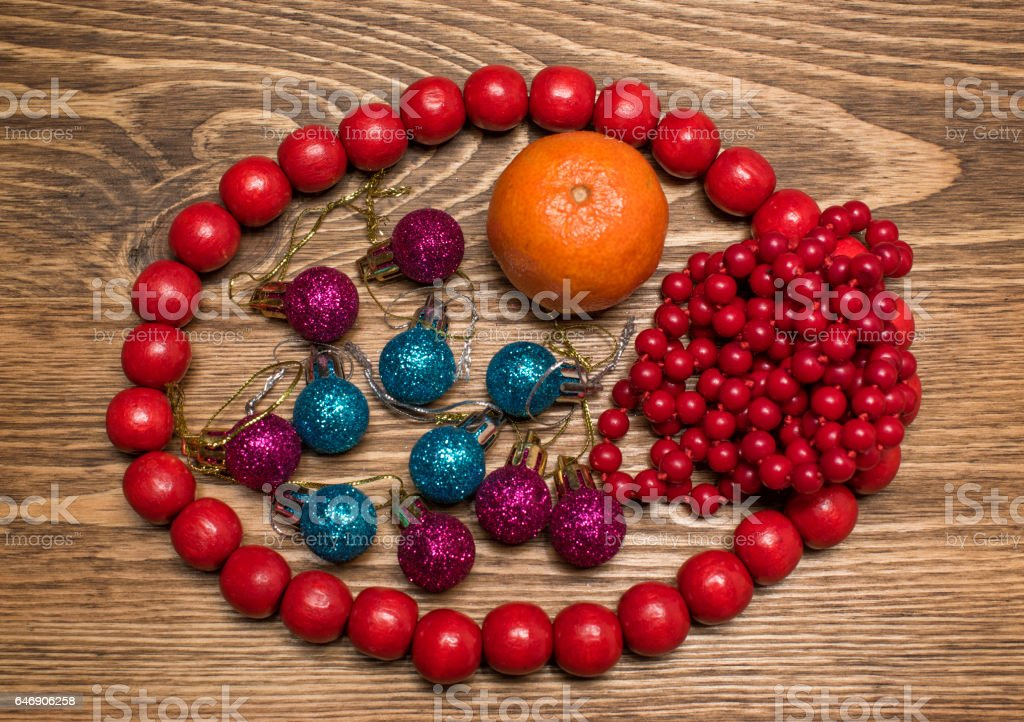 Christmas decorations and accessories stock photo