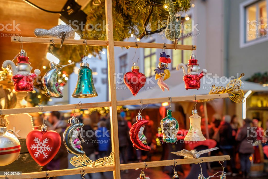 Christmas decorations at the Christmas market - Austria stock photo