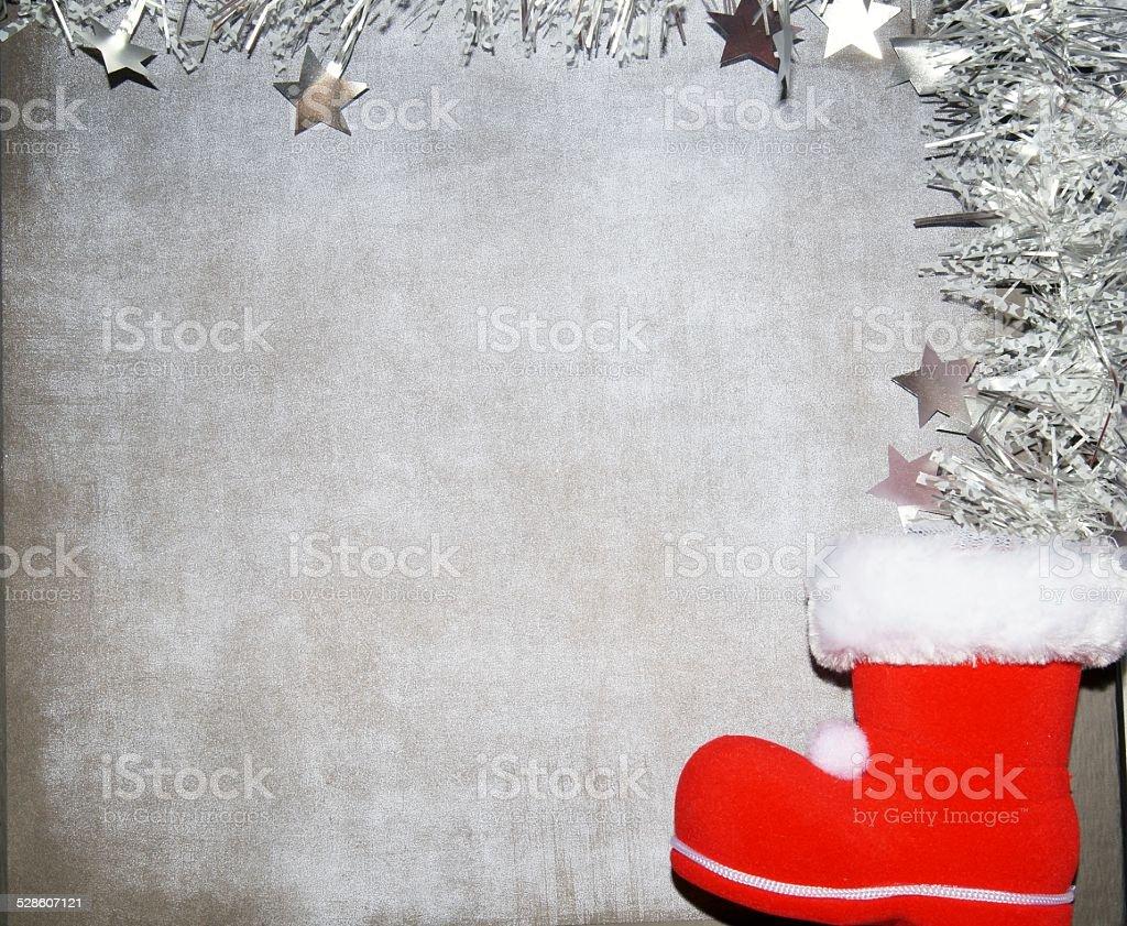 Christmas decorations background stock photo