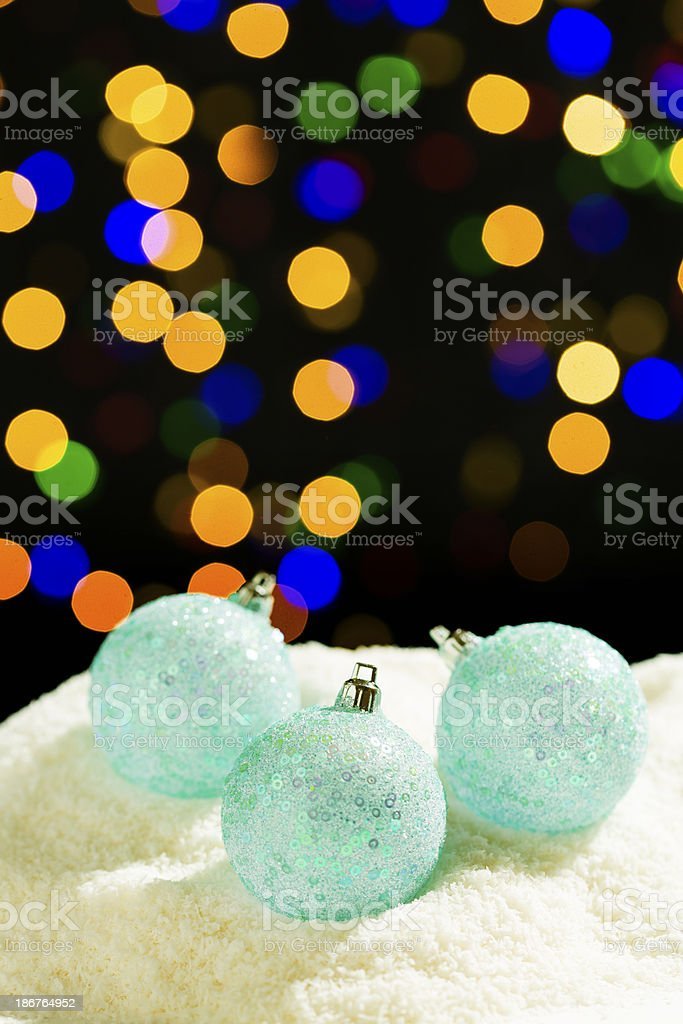 Christmas Decorations in Snow royalty-free stock photo