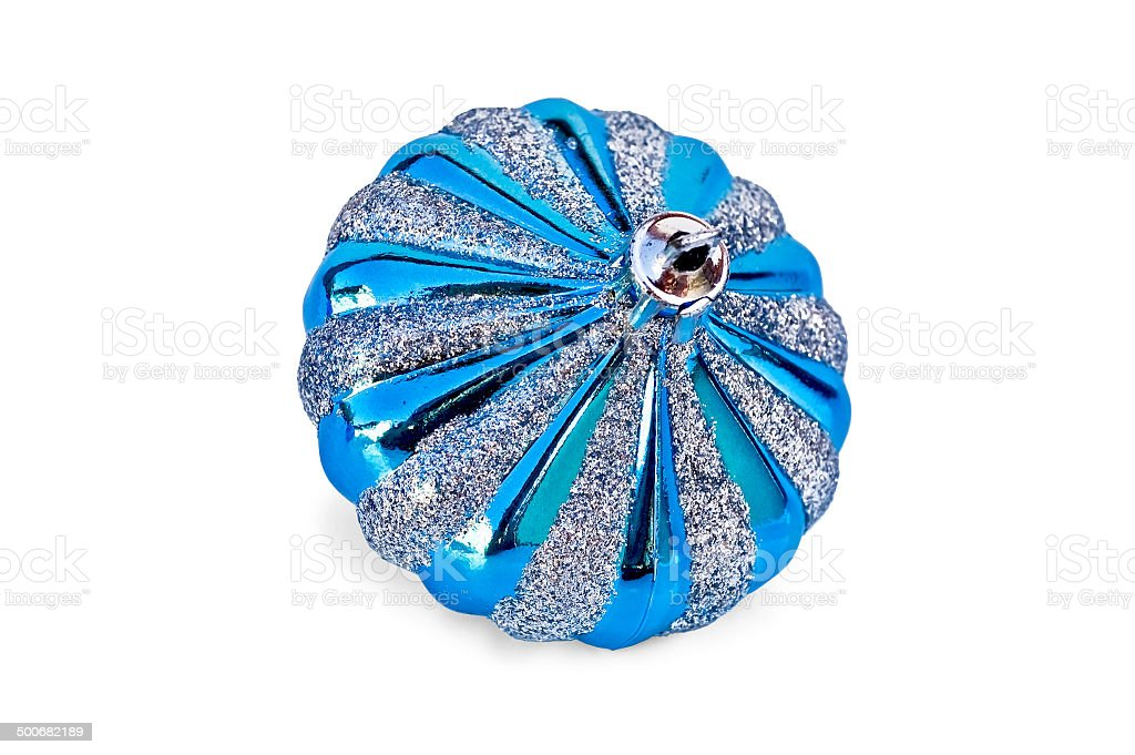 Christmas decorations in the form of blue whirlabout stock photo