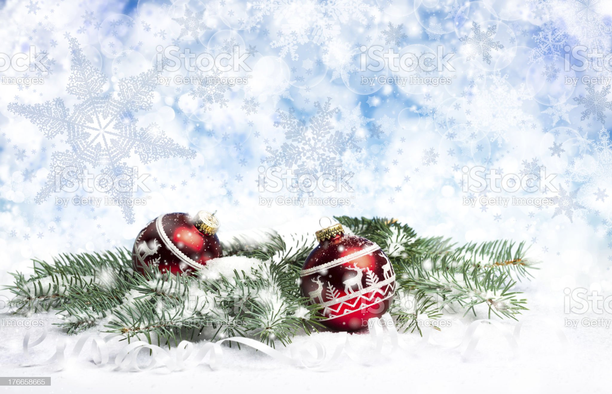 Christmas decorations on abstract background royalty-free stock photo