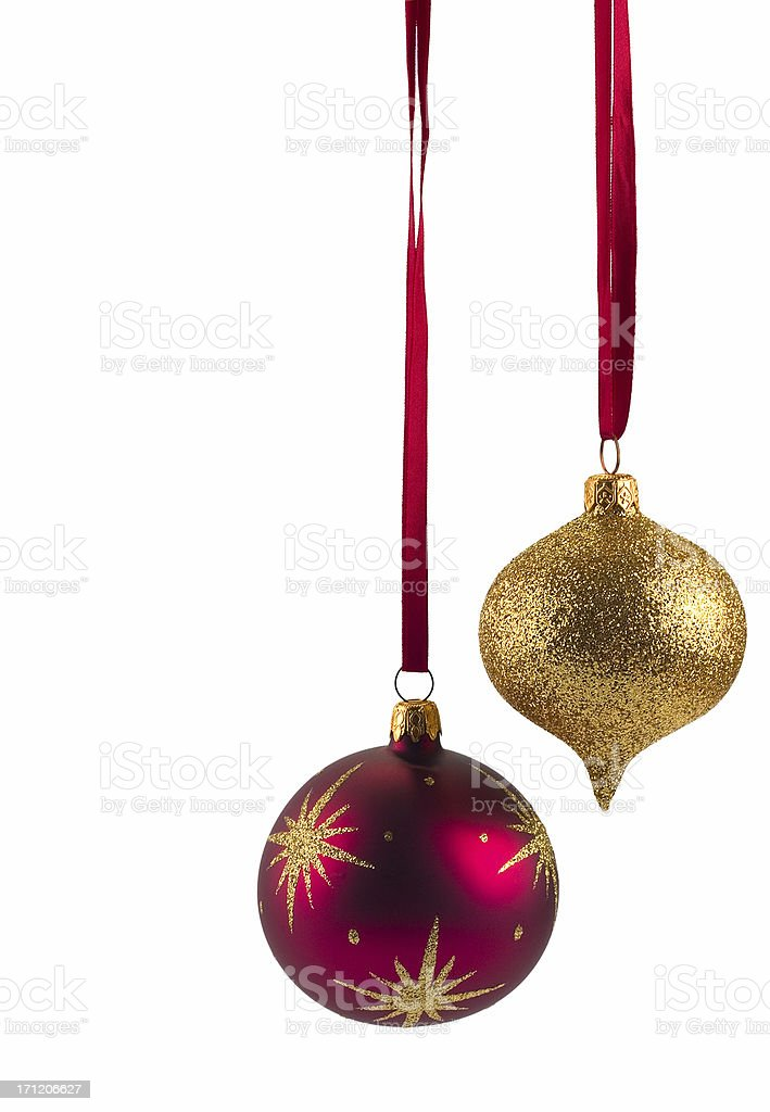 Christmas decorations on white royalty-free stock photo