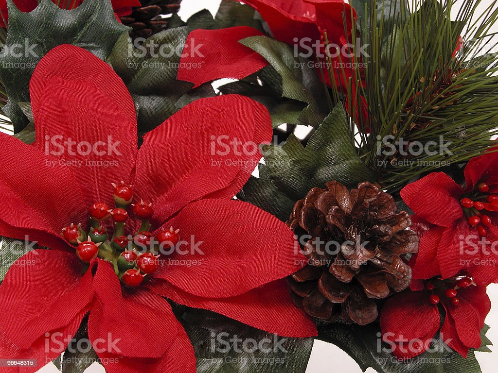 Christmas Decorations (Red Poinsettia) royalty-free stock photo