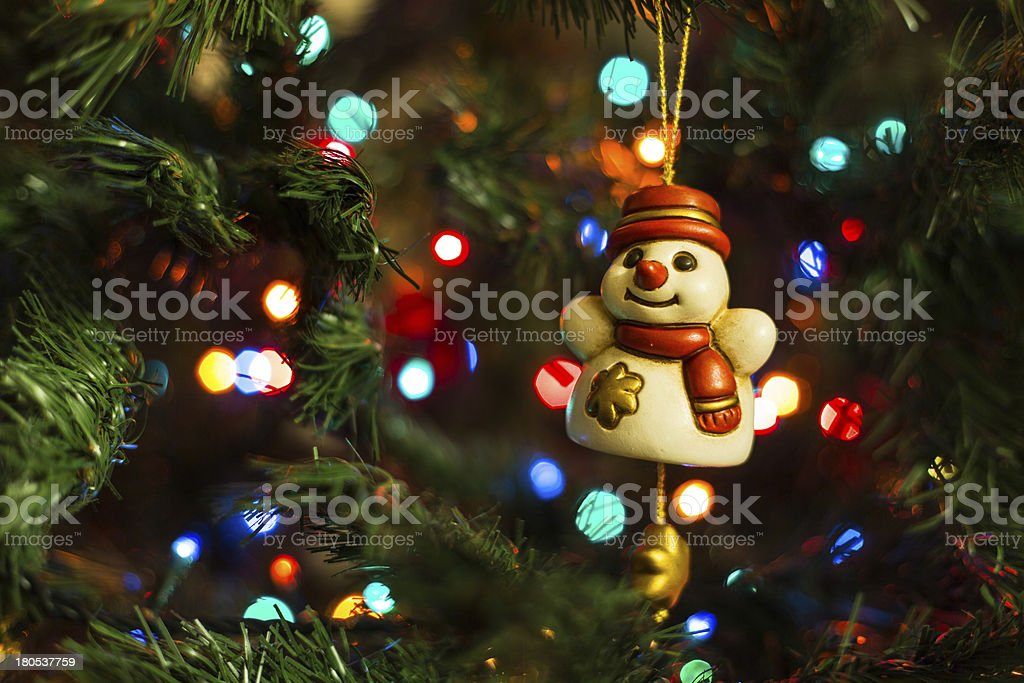 Christmas decorations - Smilin Snowman royalty-free stock photo