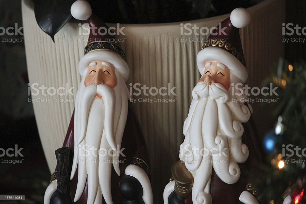 Christmas Decorations: Two Wisemen Figurines stock photo