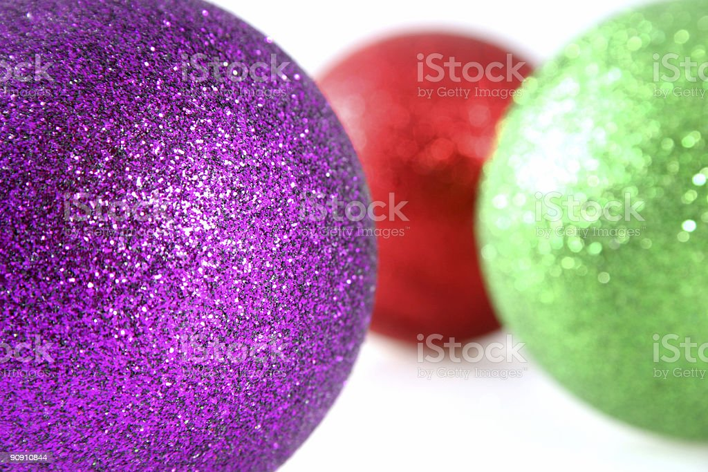 Christmas Decorations With Shallow Depth of Field stock photo