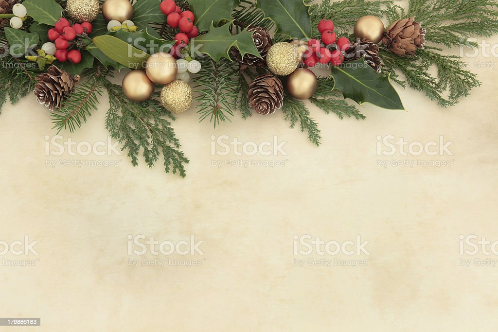 Christmas Decorative Border royalty-free stock photo