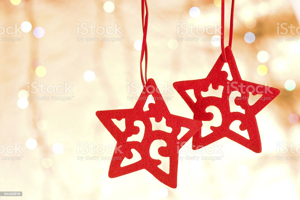 Christmas decorative star stock photo