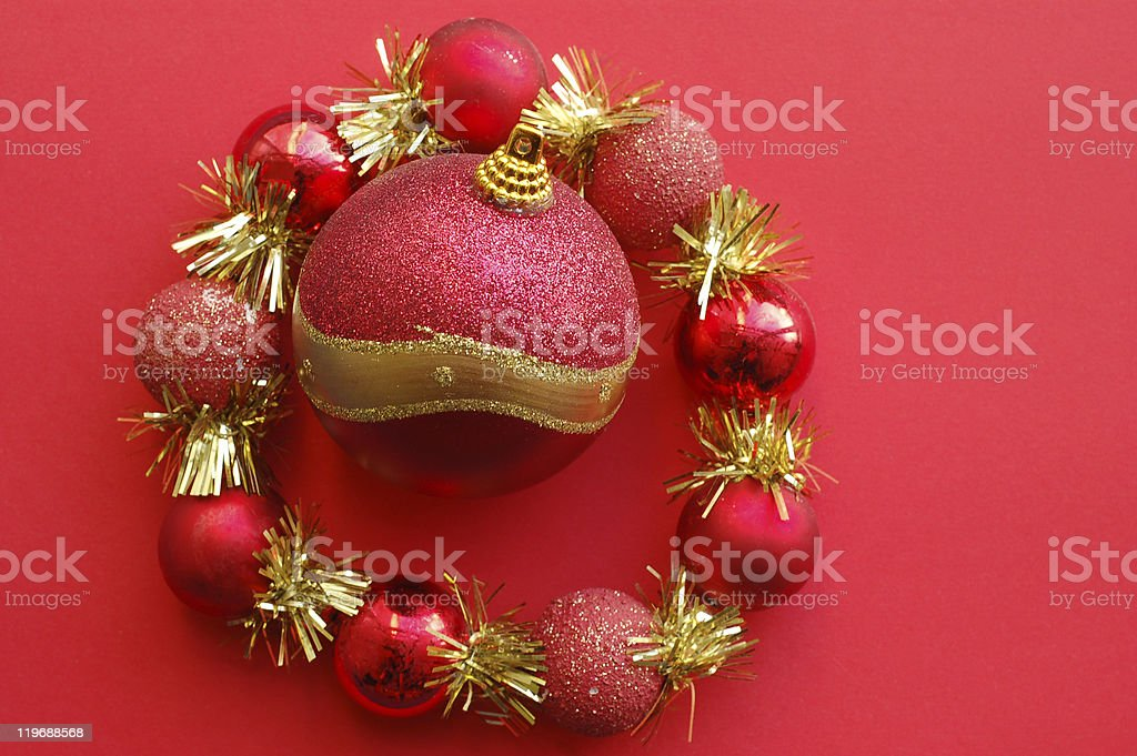 Christmas decorative wreath with a tree ball royalty-free stock photo
