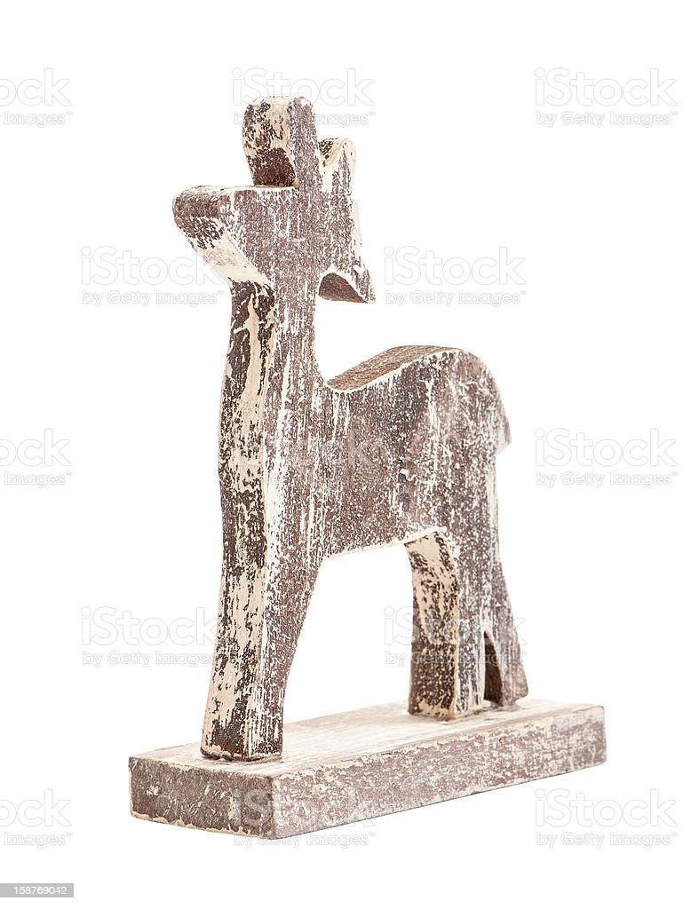 Christmas deer figurine stock photo