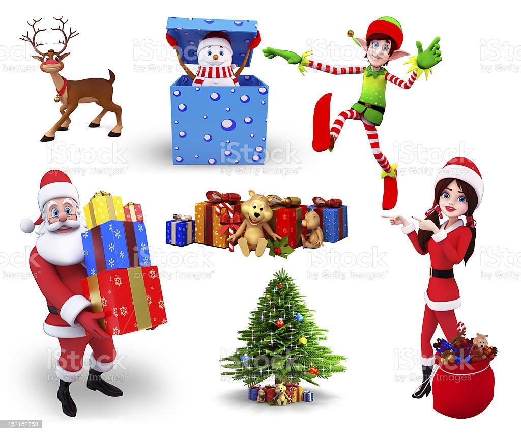 Christmas Design Set royalty-free stock photo