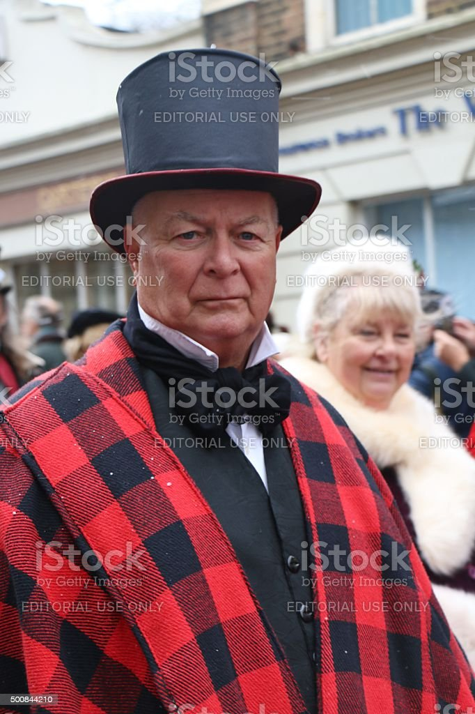 christmas dickens festival stock photo