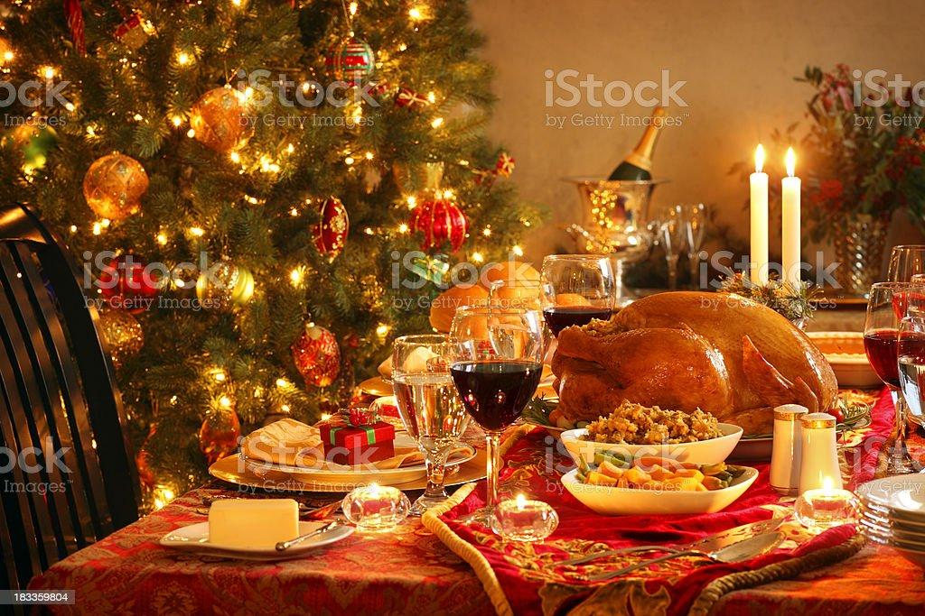 Christmas Dinner royalty-free stock photo